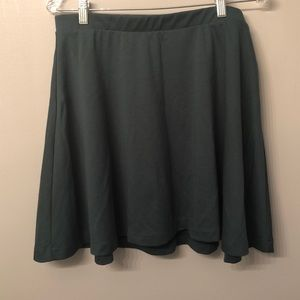 Green flowy skirt
